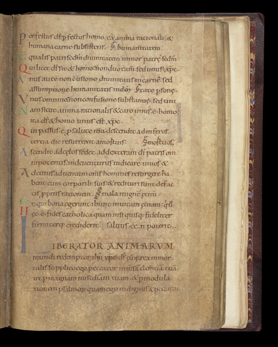 The Athanasian Creed, With Old English Translation, In 'The Leofric Psalter